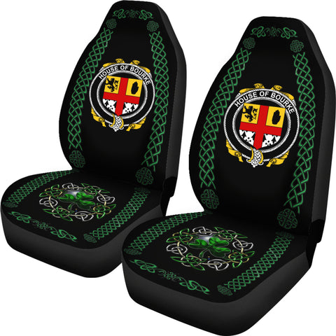 Bourke Ireland Shamrock Celtic Irish Surname Car Seat Covers TH7