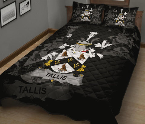 Irish Quilt Bed Set, Tallis Family Crest Premium Quilt And Pillow Cover A7