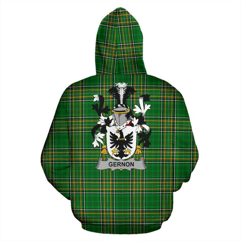 Gernon or Garland Ireland Hoodie Irish National Tartan (Pullover) | Women & Men | Over 1400 Crests