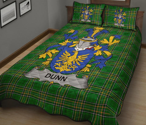 Image of Dunn or O'Dunn Ireland Quilt Bed Set Irish National Tartan | Over 1400 Crests | Home Set | Bedding Set