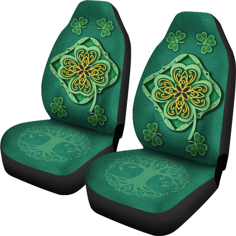 Irish Shamrock Car Seat Covers 2
