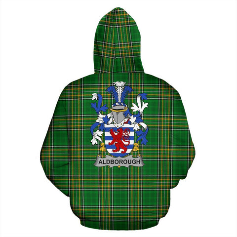Image of Aldborough Ireland Hoodie Irish National Tartan (Pullover) | Women & Men | Over 1400 Crests