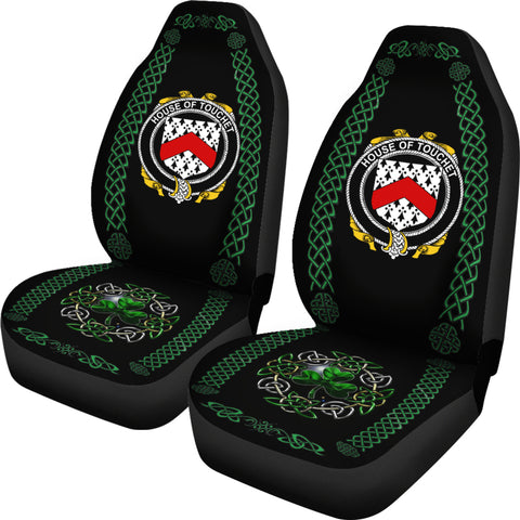 Image of Touchet Ireland Shamrock Celtic Irish Surname Car Seat Covers TH7
