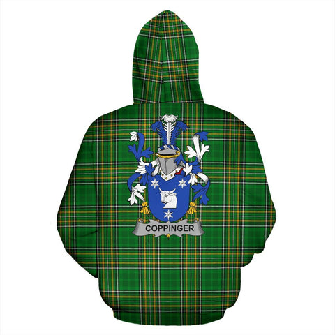 Coppinger Ireland Hoodie Irish National Tartan (Pullover) | Women & Men | Over 1400 Crests