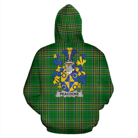 Image of Peacocke Ireland Hoodie Irish National Tartan (Pullover) | Women & Men | Over 1400 Crests