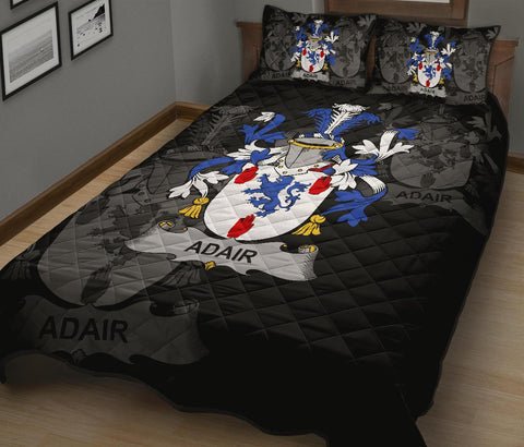 Irish Quilt Bed Set, Adair Family Crest Premium Quilt And Pillow Cover A7
