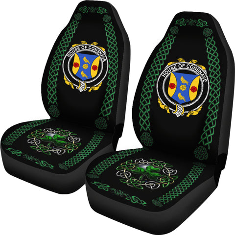 Forde or Consnave Ireland Shamrock Celtic Irish Surname Car Seat Covers TH7