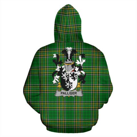 Palliser Ireland Hoodie Irish National Tartan (Pullover) | Women & Men | Over 1400 Crests