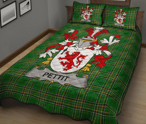 Pettit Ireland Quilt Bed Set Irish National Tartan | Over 1400 Crests | Home Set | Bedding Set