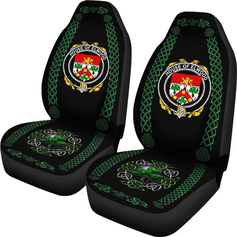 Elwood Ireland Shamrock Celtic Irish Surname Car Seat Covers TH7