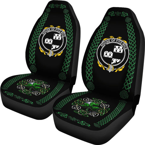 Fitz-Rice Ireland Shamrock Celtic Irish Surname Car Seat Covers TH7