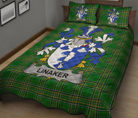 Linaker Ireland Quilt Bed Set Irish National Tartan | Over 1400 Crests | Home Set | Bedding Set
