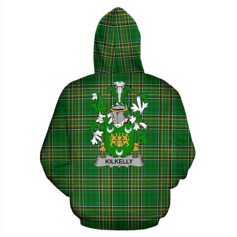 Kilkelly or Killikelly Ireland Hoodie Irish National Tartan (Pullover) | Women & Men | Over 1400 Crests