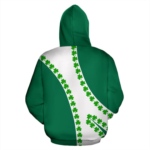 Image of Ireland Hoodie Patterns Shamrock - Sports Style 02 TH5
