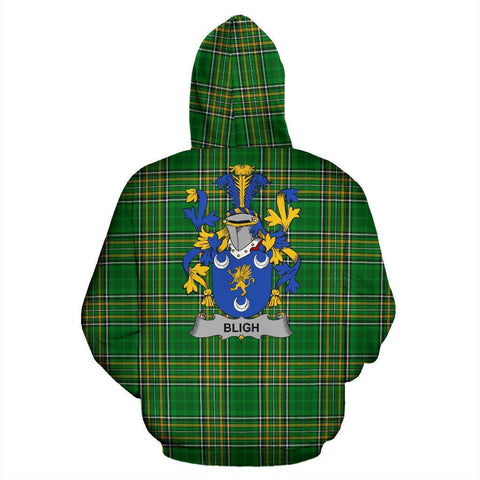 Bligh Ireland Hoodie Irish National Tartan (Pullover) | Women & Men | Over 1400 Crests