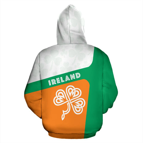 Ireland Celtic Shamrock Zip Up Hoodie K4