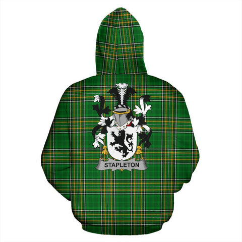 Stapleton Ireland Hoodie Irish National Tartan (Pullover) | Women & Men | Over 1400 Crests