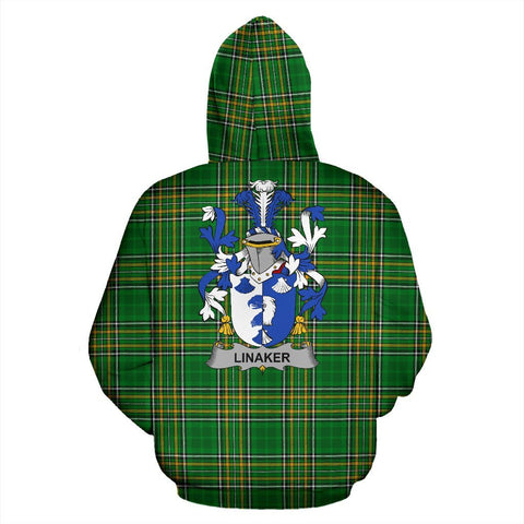 Linaker Ireland Hoodie Irish National Tartan (Pullover) | Women & Men | Over 1400 Crests