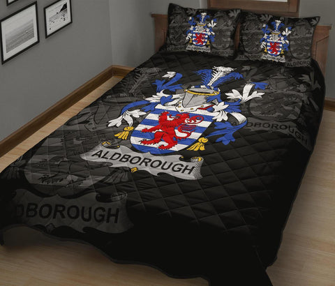 Image of Irish Quilt Bed Set, Aldborough Family Crest Premium Quilt And Pillow Cover A7