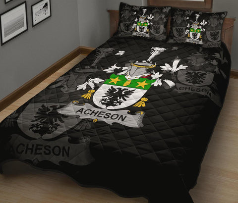 Irish Quilt Bed Set, Acheson Family Crest Premium Quilt And Pillow Cover A7