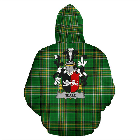 Image of Neale Ireland Hoodie Irish National Tartan (Pullover) | Women & Men | Over 1400 Crests