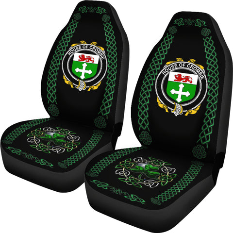Crombie Ireland Shamrock Celtic Irish Surname Car Seat Covers TH7