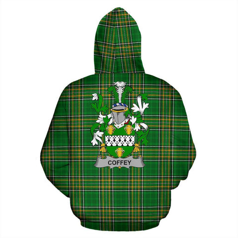 Image of Coffey or O'Coffey Ireland Hoodie Irish National Tartan (Pullover) | Women & Men | Over 1400 Crests