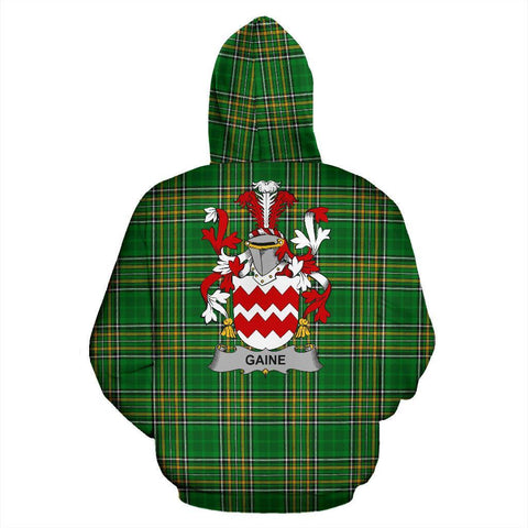 Image of Gaine or Gainey Ireland Hoodie Irish National Tartan (Pullover) | Women & Men | Over 1400 Crests