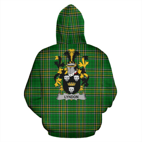 Lyndon or Gindon Ireland Hoodie Irish National Tartan (Pullover) | Women & Men | Over 1400 Crests