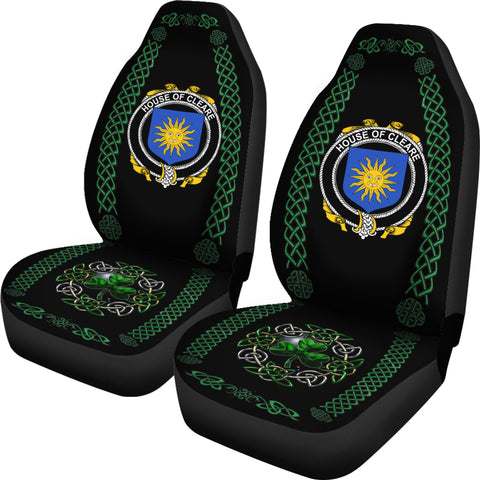 Cleare Ireland Shamrock Celtic Irish Surname Car Seat Covers TH7
