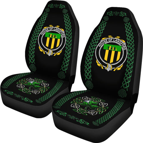 Langford Ireland Shamrock Celtic Irish Surname Car Seat Covers TH7