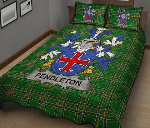 Pendleton Ireland Quilt Bed Set Irish National Tartan | Over 1400 Crests | Home Set | Bedding Set