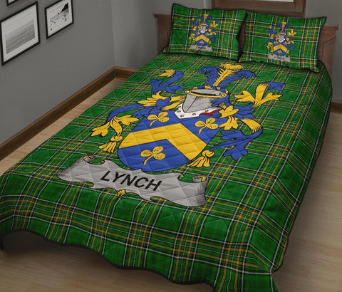 Lynch Ireland Quilt Bed Set Irish National Tartan | Over 1400 Crests | Home Set | Bedding Set