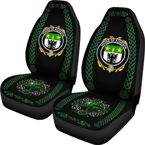 Acheson Ireland Shamrock Celtic Irish Surname Car Seat Covers TH7