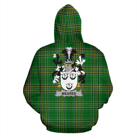 Meares Ireland Hoodie Irish National Tartan (Pullover) | Women & Men | Over 1400 Crests