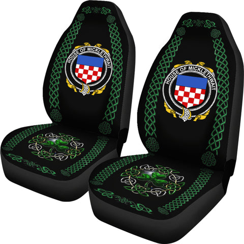 Micklethwait Ireland Shamrock Celtic Irish Surname Car Seat Covers TH7