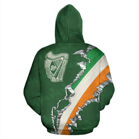 Ireland In Me Hoodie with Green color - Back - For Men and Women