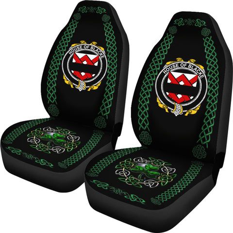 Image of Blacke Ireland Shamrock Celtic Irish Surname Car Seat Covers TH7