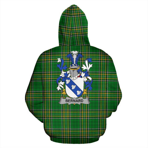 Bernard Ireland Hoodie Irish National Tartan (Pullover) | Women & Men | Over 1400 Crests