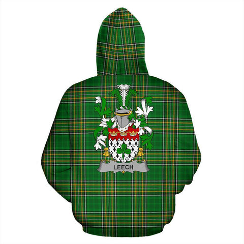 Image of Leech Ireland Hoodie Irish National Tartan (Pullover) | Women & Men | Over 1400 Crests