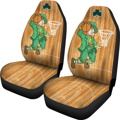 St. Patrick Leprechaun Dunking Car Seat Covers - Set of 2 - Universal Fit TH7