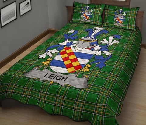 Leigh or McLaeghis Ireland Quilt Bed Set Irish National Tartan | Over 1400 Crests | Home Set | Bedding Set