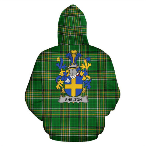 Shelton Ireland Hoodie Irish National Tartan (Pullover) | Women & Men | Over 1400 Crests