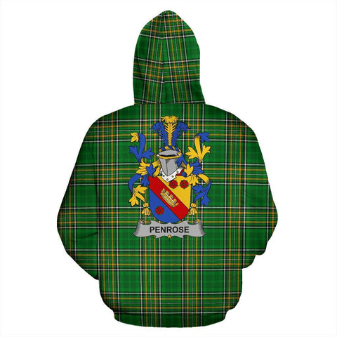 Penrose Ireland Hoodie Irish National Tartan (Pullover) | Women & Men | Over 1400 Crests