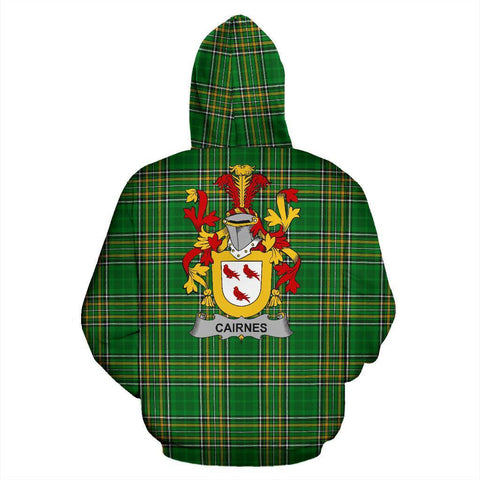Image of Cairnes Ireland Hoodie Irish National Tartan (Pullover) | Women & Men | Over 1400 Crests