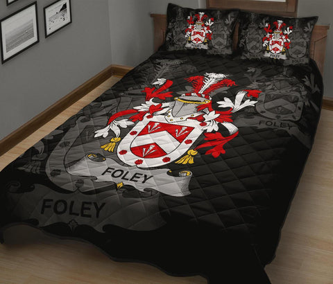 Irish Quilt Bed Set, Foley Family Crest Premium Quilt And Pillow Cover A7