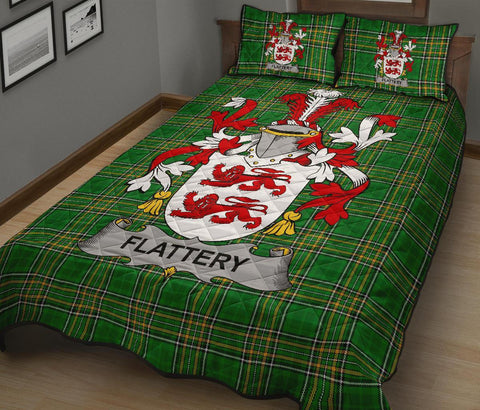 Flattery or O'Flattery Ireland Quilt Bed Set Irish National Tartan | Over 1400 Crests | Home Set | Bedding Set