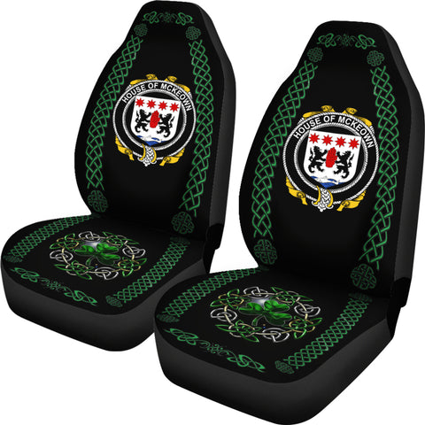 Image of McKeown or Keon Ireland Shamrock Celtic Irish Surname Car Seat Covers TH7