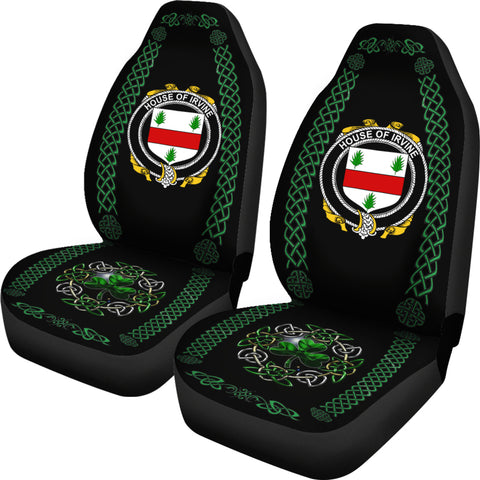 Image of Irvine Ireland Shamrock Celtic Irish Surname Car Seat Covers TH7