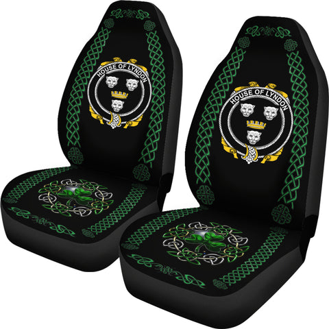 Lyndon or Gindon Ireland Shamrock Celtic Irish Surname Car Seat Covers TH7